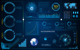 Abstract hud interface intelligence technology innovation system working concept. Eps 10 vector Royalty Free Stock Image