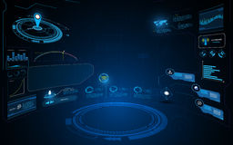 Abstract hud interface ui perspective dynamic design innovation concept template background Royalty Free Stock Images