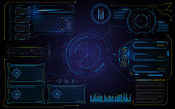 Abstract hud interface UI technology virtual machine running template background Royalty Free Stock Image