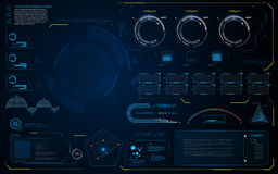 Abstract HUD UI interface data diagnostics conept design template background. Eps 10 vector Stock Image