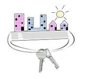 Abstract huis met sleutels Royalty-vrije Stock Afbeelding