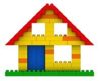 Abstract huis van plastic bouwstenen Stock Afbeelding