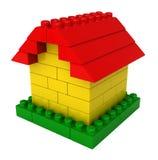 Abstract huis van plastic bouwstenen Royalty-vrije Stock Afbeeldingen