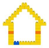 Abstract huis van plastic bouwstenen Royalty-vrije Stock Foto