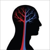 Abstract Human Brain vector illustration