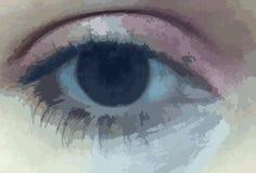 Abstract human - digital - eye Stock Images