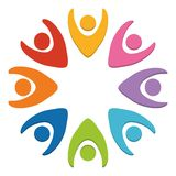 Abstract human figures design. Abstract human figures in circle shape colorful design vector illustration Royalty Free Stock Photo