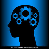 Abstract human head silhouette Royalty Free Stock Images
