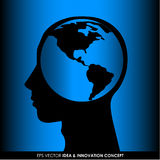 Abstract human head silhouette Stock Photos