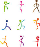 Abstract human illustration. Vector illustration of abstract human silhouettes Stock Image