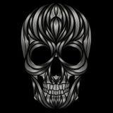 Abstract  human skull Stock Photo