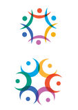 Colorful humanity logos Royalty Free Stock Photography