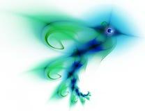 Abstract a humming-bird stock illustration
