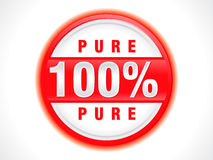 Abstract hundred percent organic stamp Stock Image
