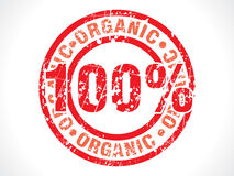 Abstract hundred percent organic stamp Royalty Free Stock Photo