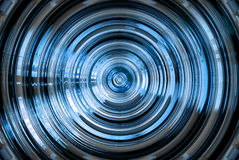 Abstract hypnotic blue background Royalty Free Stock Image