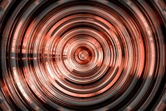 Abstract hypnotic red shape Stock Photo