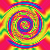 Abstract hypnotizing twirl. In beautiful rainbow colors Stock Image