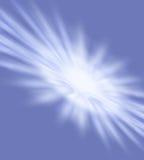 Abstract I. Burst of white on blue stock illustration