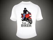Abstract i am a biker tshirt template Stock Photography