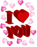 Abstract I love you background Royalty Free Stock Photo