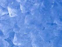 Abstract Ice. Close-up of ice with cool toned colorcast stock photo