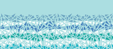 Abstract ice chrystals texture horizontal seamless royalty free illustration