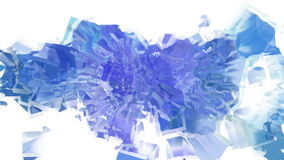 Abstract ice cube plasma spray stock footage
