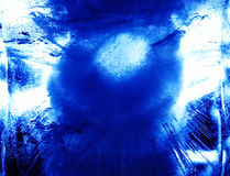 Abstract ice figure, model 2. Abstract ice figure, in blue light Royalty Free Stock Photo