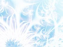 Abstract ice-flowers stock illustration
