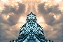 Abstract ice formation mirrored at Jokulsarlon Beach Southeast Iceland Stock Photos