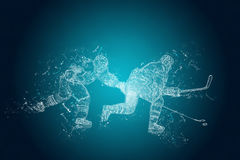 Abstract Ice-Hockey players in action Stock Images