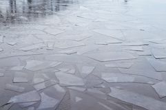 Abstract ice on the river Royalty Free Stock Photos