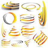 Abstract Icon. Illustration of set of abstract icon for designing Stock Images