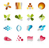Abstract icon. S in different colors Stock Photography
