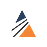 ABSTRACT ICON FOR ACCOUNTING FINANCIAL MANAGEMENT TEMPLATE. ABSTRACT orange blue green ICON FOR ACCOUNTING FINANCIAL MANAGEMENT LOGO TEMPLATE Royalty Free Stock Photography