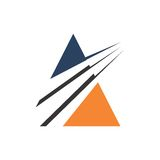 ABSTRACT ICON FOR ACCOUNTING FINANCIAL MANAGEMENT TEMPLATE. ABSTRACT orange blue green ICON FOR ACCOUNTING FINANCIAL MANAGEMENT LOGO TEMPLATE Royalty Free Stock Images