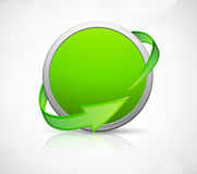 Abstract icon with arrows Stock Images