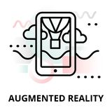 Abstract icon of augmented reality. Abstract icon of future technology - augmented reality on color geometric shapes background, for graphic and web design Royalty Free Stock Photo