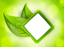 Abstract icon with leaves Stock Photo