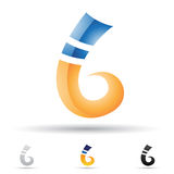 Abstract icon for letter B Stock Images
