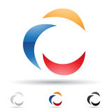 Abstract icon for letter C Royalty Free Stock Images