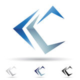 Abstract icon for letter C Royalty Free Stock Photos