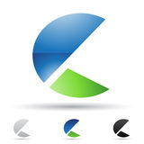 Abstract icon for letter C Stock Photo