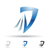 Abstract icon for letter D Stock Photo