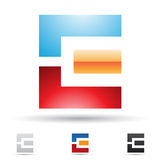 Abstract icon for letter E Stock Images