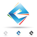 Abstract icon for letter E Royalty Free Stock Images