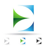 Abstract icon for letter E Royalty Free Stock Photo