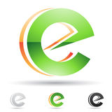 Abstract icon for letter E Stock Image