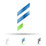 Abstract icon for letter F Stock Photography